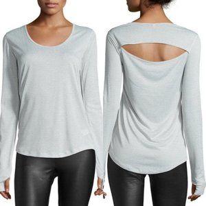 ONZIE Wave Long Sleeve Sport Top Gray Back Cutout